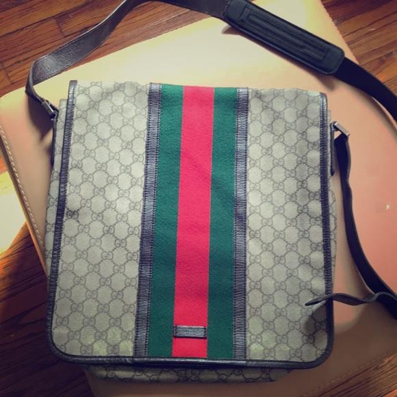 67d7bfa1f8c Gucci Other - Vintage Gucci Messenger Bag